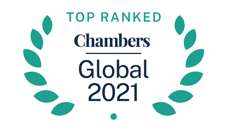Chambers Global Top Rated Firm logo