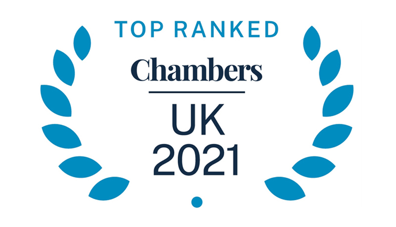 Chambers UK Top Rated Firm logo
