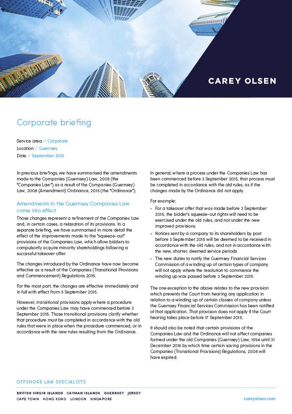 Company Law Comparison Guide