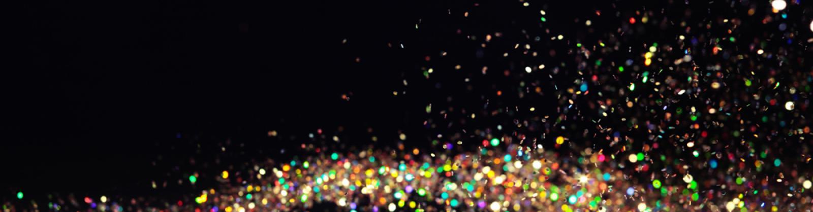 Celebratory glitter